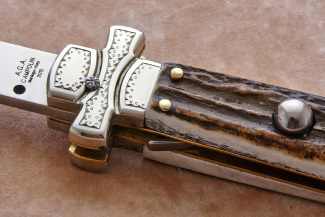 Maltese switchblade engraved